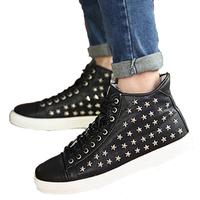 New Arrival 2014 Men Shoes Fashion Rivets Men Skateboard Shoes High-top Spring Autumn Men Shoes Drop Shipping 188