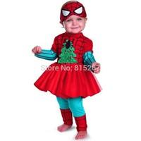 20Set Baby Girl Christmas Halloween Spider-Man TuTu Dress+Pants 2Pcs Set Children Long Sleeve Cosplay Clothing Suit Kids Outfits