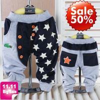 2015 new spring Retail 1 piece kids pants children trousers stars children pants boys Haren Pants PANYA SL001