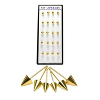 Fashion Rivet Stud Earring Clinch Gold Color Free Shipping