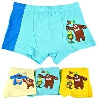2014 Real Men Boxer Mens Underwear Boxers Cueca T1002 Explosions Children Bear Cartoon Underwear Little Boys   Wholesale