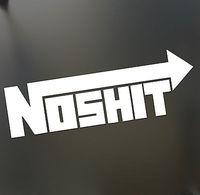 NOSHIT NOS Funny sticker drunk JDM racing race drift  lowered car window sticker