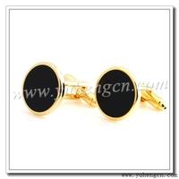 Free shipping  YH-1484GL/ONX  Elegant  Round Onyx Jewelry Cufflinks  - Factory Direct Selling