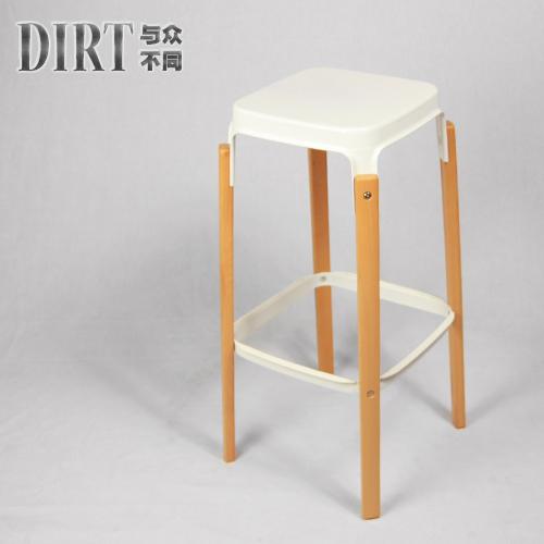 bar cadeira do tamborete de barra tamborete de barra tamborete de barra cadeira de madeira perna da cadeira ferro elegante cozinha minimalista(China (Mainland))
