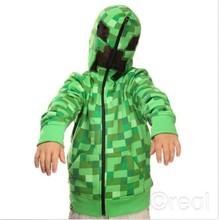 minecraft enredadera con capucha con capucha abrigo chaqueta enredadera enredadera juventud nos tamaño para niños& niños gran calidad 1 unidades en stock(China (Mainland))