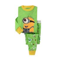 2014 New despicable me Suits Boys minion Pajamas Children's Pyjamas Girls Cartoon Pijamas Kids Clothing set Printed Sleepwears
