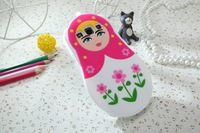 1pcs  New ariival cute cartoon Russian doll cover Silivon Case for Samsung galaxy S3 i9300  Free shipping