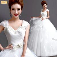 The bride heart-shaped pearl diamond wedding dresses 2015 new winter dress sexy wedding dresses vestido de noiva fashionable