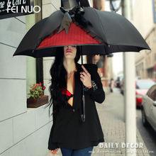2015 new ! High quality fancy brand big women rain umbrella black automatic long-handle sunny and rainy umbrella free shipping(China (Mainland))