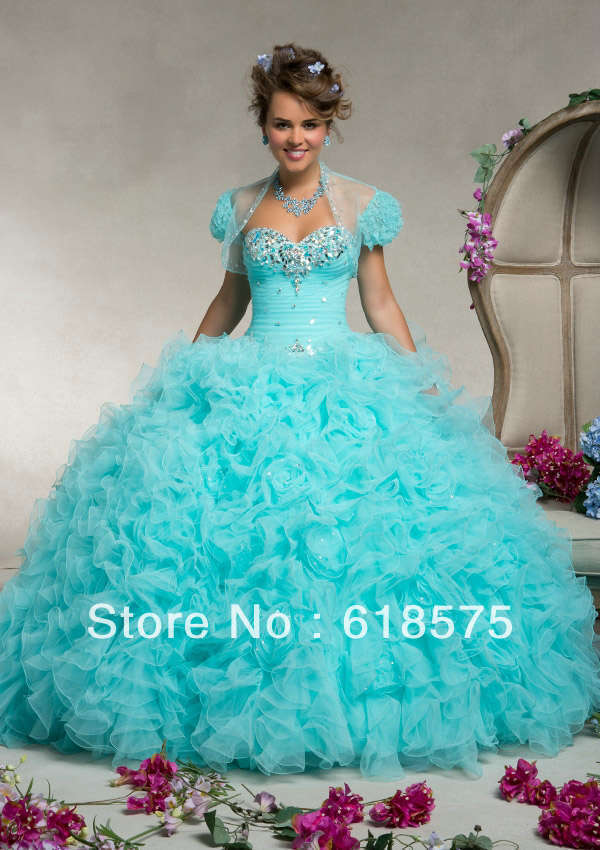 White And Blue Puffy Quinceanera Dresses – images free download