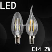 10pcs led candle light  E14 2w 4w  led  lamp tubes Warm White Cool White bulb Spotlight Crystal Light  free shipping