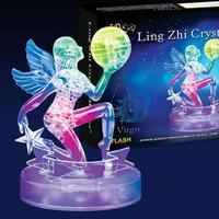 New 3D Crystal Blocks Puzzle Flashing Horoscope Puzzle Flash Virgo Educational Toys Christmas Kid's Present New Year Gift
