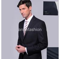2015 New arrival Italy wool dark navy herringbone fabric custom made Business men suit  wedding suit(jacket+pants)