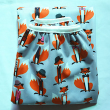 Fox Pail Liner for Cloth Diaper Nappy Insert PUL Large Wet Bag Elastic Washable Waterproof(China (Mainland))