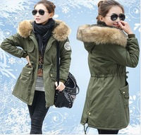 New Thickening Long Winter Jacket Women Casual Fleece Fur Hooded Parka Cotton-padded Silm Down & Parkas coat plus size 4XL
