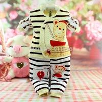 2014 New winter newborn baby thermal Underwear Set 4-6-19-24 months boy girl 100%Cotton Warm child Infants kids clothes sets