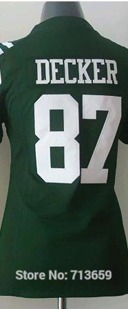 Sports New York #87 Eric Decker women's Jersey american football Jerseys,Embroidery Logo,Free Shipping,Accept Mix Order(China (Mainland))