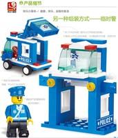 Without Origin Box Sluban M38 - B0177 Creativity Training Series Q Version Police Car 60 PCS