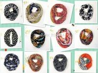Wholesale 2014 Brand Women Scarf Spring/Autumn/Winter Scarf Star Printing Viscose Neckerchief Ring Scarf for women
