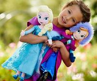 2014 Hot Sell Frozen Princess Plush Doll 50cm Frozen Elsa and Anna Frozen Toys Good Girl Gift Christmas Best Presents for Kids