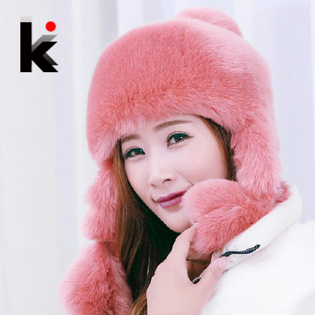 Женская шапка-ушанка Kiss mi 6 D018