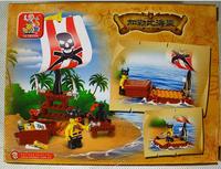 Without Origin Box Sluban Building Blocks Set B0277 Pirate Series/Special Treasure - Queen's Revenge ABS Plastic Environmental