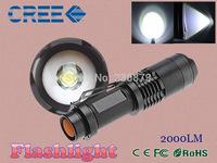 CREE XML t6 2000 Lumens lantern 5 Modes Adjustable led flashlight Torch Light suited 18650 battery