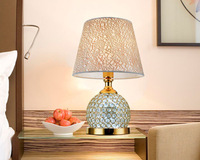 Details about Vepower T73 Beaded Crystal Table Lamp with Yellow Shade,460mm*300mm