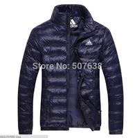 2014 Winter Famous Brand Designer Men's Sport Casual Stand Collar Slim Down&Parkas Cotton Thicken Jacket Outdoors