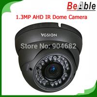Security Camera 720P Resolution 1.3MP AHD 2.8- 12mm Varifocal Lens 36pcs IR LEDs IR Camera Compatible with DVR CCTV Camera