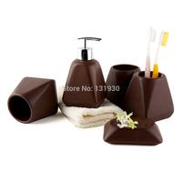Ceramic bathroom accessories 5pieces exported Europe bath kit decotalk series wedding gift 4/5pcs/set DC-CA4