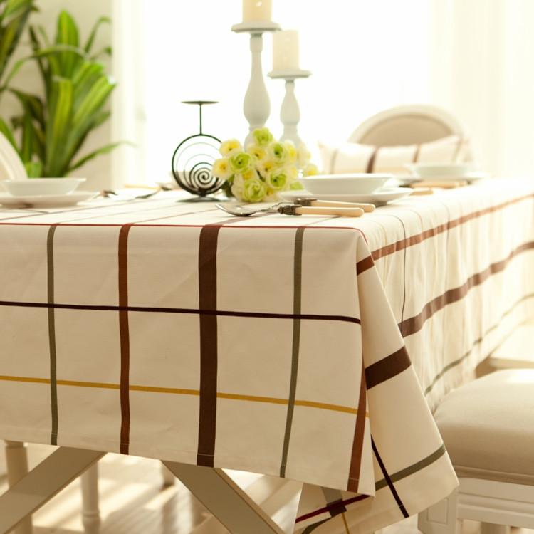 Free shipping 2014 new 100% cotton cloth rustic plaid canvas handmade diy fabric table cloth curtain pillow fabric(China (Mainland))
