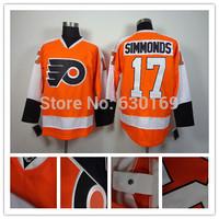 Philadelphia Flyers17 Wayne Simmonds Orange men  Ice Hockey Jerseys cheap,Embroidery logos, free shipping