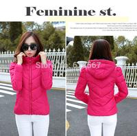 Free Shipping 2014 fashion winter jacket women Lightweight casual down jacket short section Slim parkas for women winter coat