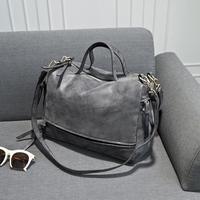 Fashion vintage 2014 fashion nubuck leather motorcycle bag women's handbag cross-body shoulder bag