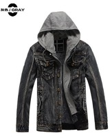 New Arrived cowboy coat men's clothing with soft nap in the fall and winter men's Jacket with the cap men's wear