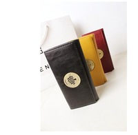 High-quality 2014 European and American fashion  Pu Wallet eighty percent off college wind Wallet Women's Long Wallet