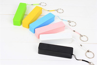 Key ring 2600mAh Power bank 18650 battery Perfume external battery charger with USB cable retail box free ship 50pcs promotion