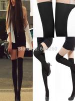 2014 Fashion Women Sexy Black Tinted Sheer False High Stocking Pantyhose Tattoo Tight free shipping hot sales