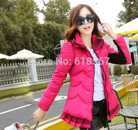 2014 winter jacket women Skirt type Slim down coat plus size parkas for women winter coat L XL 2XL 3XL Down cotton OuterWear