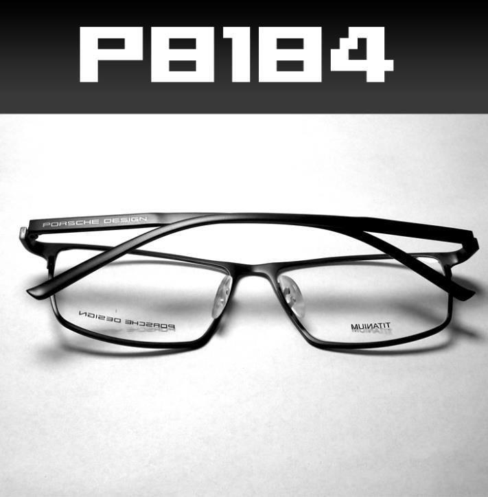 brand designer sports pure titanium prescription eyeglasses for men fashion optical full rim frame eyewear 2014 new P8184(China (Mainland))