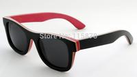 Luxury Real Skateboard Wood Sunglasses Full Frame UV400 Polarized Sunglasses Free Shipping 68041