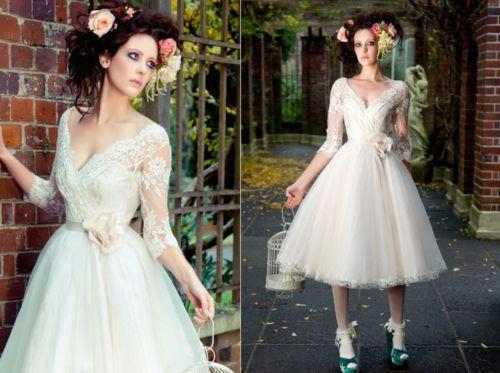 Закрытые короткие свадебные платья