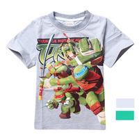 Teenage Mutant Ninja Turtles Boys T Shirts Children Clothe Fit 4-10Yrs Kids T-Shirt  Cartoon Regular O-Neck Cotton 2015 Hot 8073