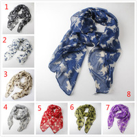 Free shipping 120pcs/lot 8color New deer printed women scarf Autumn and winter all-match Bali yarn scarves shawls