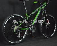26 Men's Mountain 19-inch Bicycle Bike High Strength Aluminum Alloy Frame Mountain Bike 27 Speed