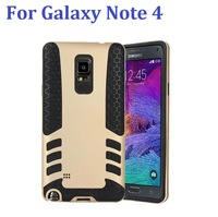 free shipping 2 in 1 Hybrid Case Cover For Galaxy Note 4 Combo Hybrid Rugged Rubber Hard Case Cover for Samsung Galaxy Note 4