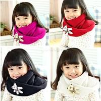 Autumn Children Scarf Christmas Gift Winter Scarf Kids Knitted O-Scarf Warm Neckerchief Shawl With Bear Pattern Sv18 Sv009386