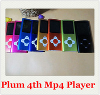Plum Blossom 8GB 4th Gen MP4 Player 1.8'' Video Radio FM MP3 MP4 music player with earphone usb cable crystal box 50pcs