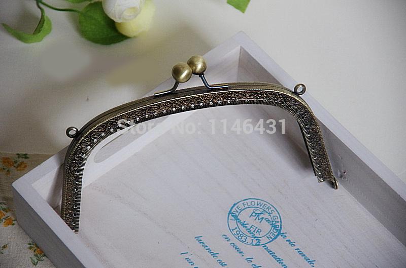 18.5cm 10pcs/lot sewing bag handles metal purse frame clutch,handbag holder accessories clasp for purse frames free ship S0177(China (Mainland))